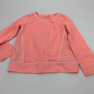 Cat & Jack Girls pull over sweatshirt pink